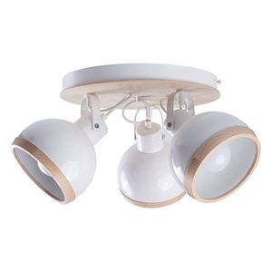 White Oval White Ceiling Lamp 3x E27 small 0