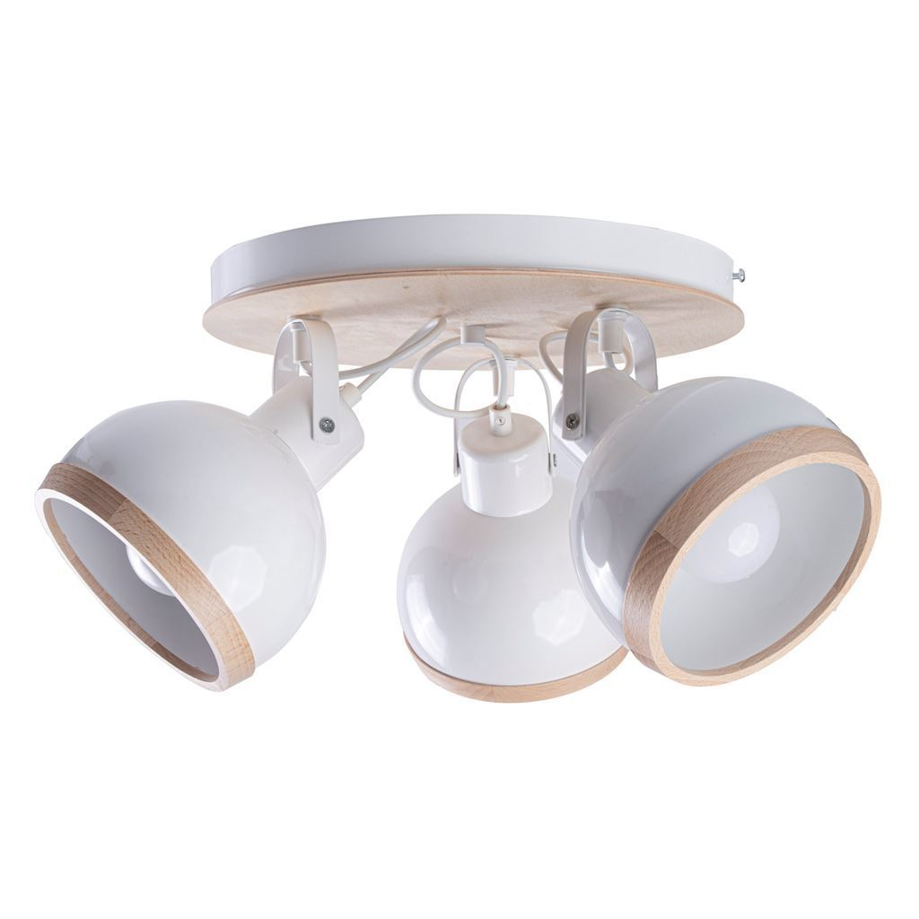 White Oval White Ceiling Lamp 3x E27