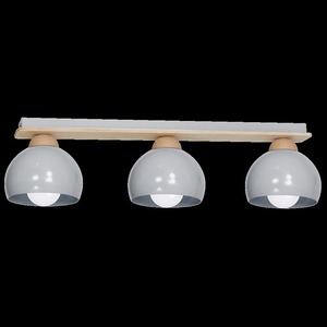 Gray Ceiling Lamp Dama Gray 3x E27 small 8