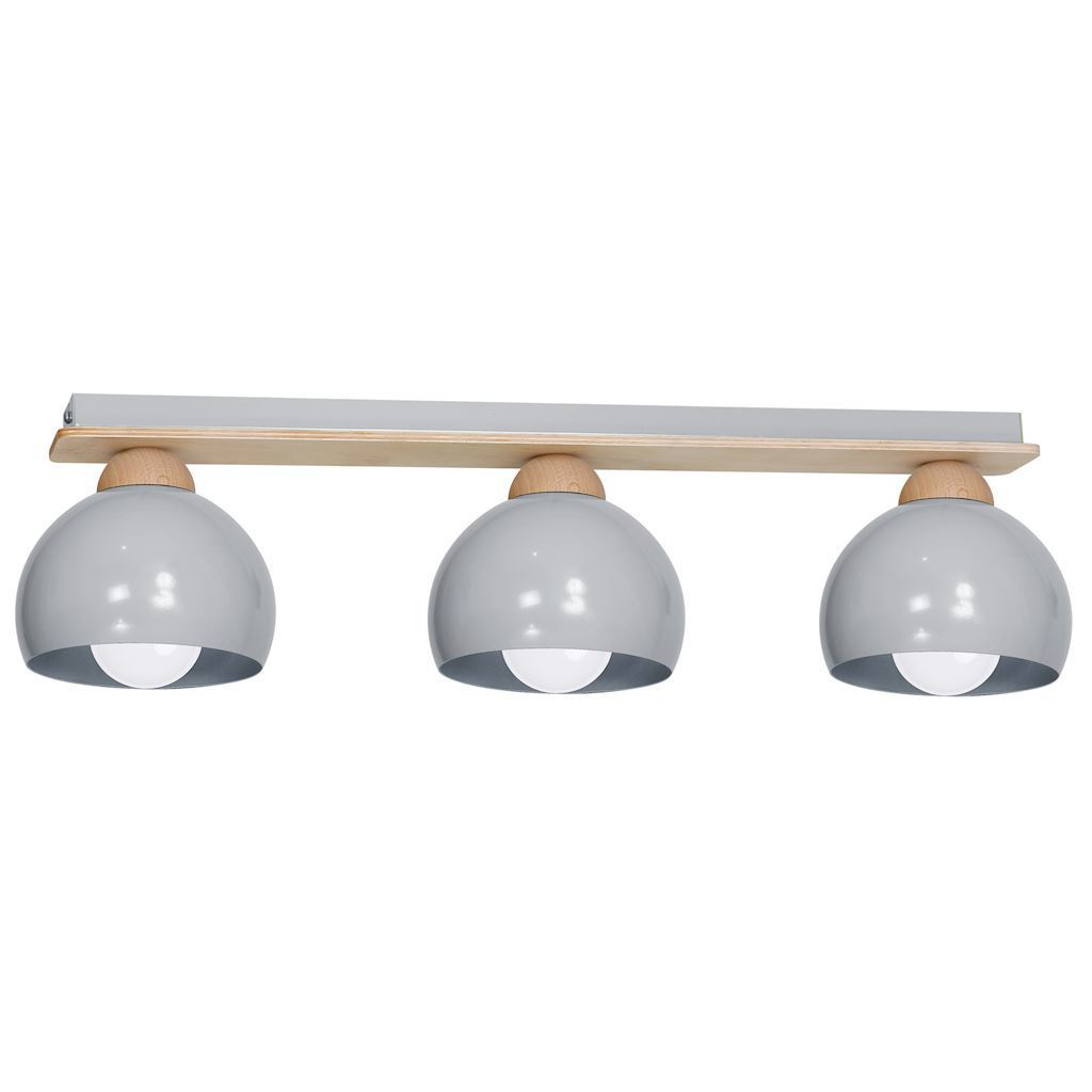 Gray Ceiling Lamp Dama Gray 3x E27