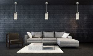 White Bronx Hanging Lamp 1x E27 small 1