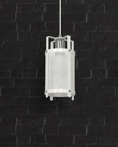 White Bronx Hanging Lamp 1x E27 small 2