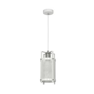 White Bronx Hanging Lamp 1x E27 small 0