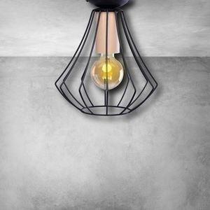 Will Black 1x E27 Ceiling Lamp small 4