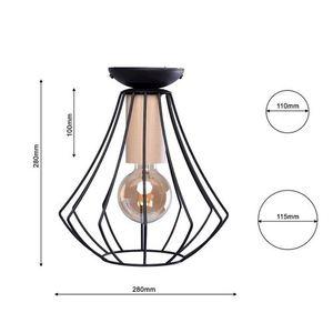 Will Black 1x E27 Ceiling Lamp small 6