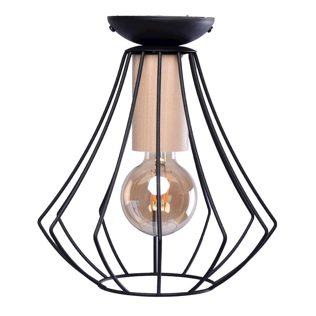Will Black 1x E27 Ceiling Lamp