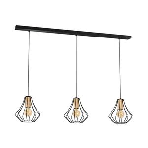 Black Pendant Lamp Will Black 3x E27 small 0