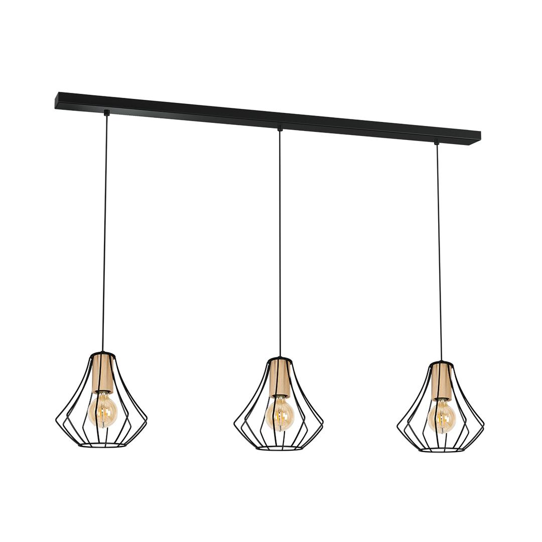 Black Pendant Lamp Will Black 3x E27