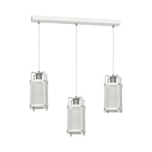 White Hanging Lamp Bronx 3x E27 small 0