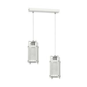 White Hanging Lamp Bronx 2x E27 small 0