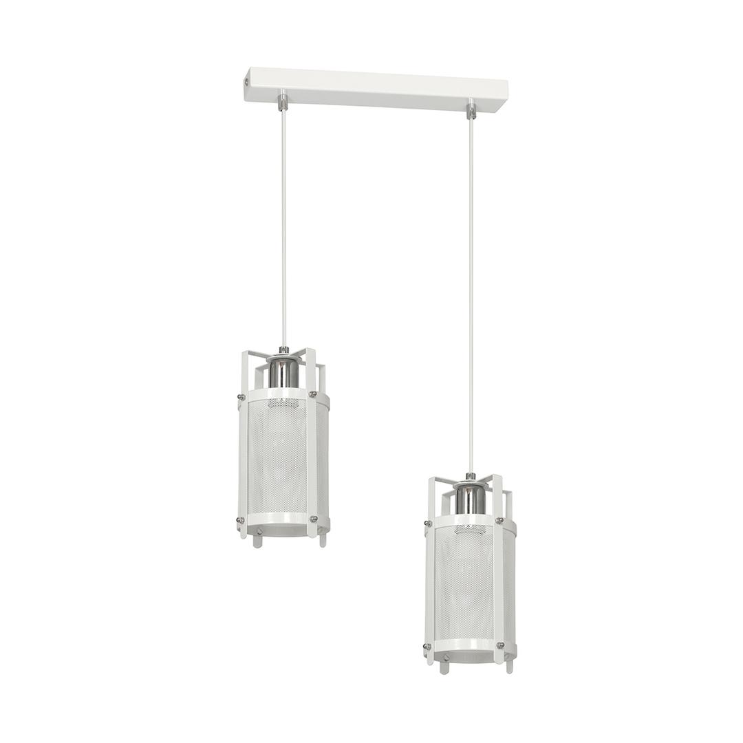 White Hanging Lamp Bronx 2x E27