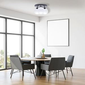 Black Ceiling Lamp Sfera Black 3x E14 small 3
