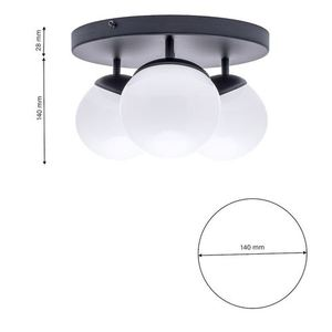 Black Ceiling Lamp Sfera Black 3x E14 small 5