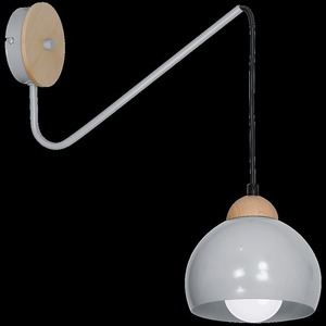 Gray Wall lamp Dama Gray 1x E27 small 8