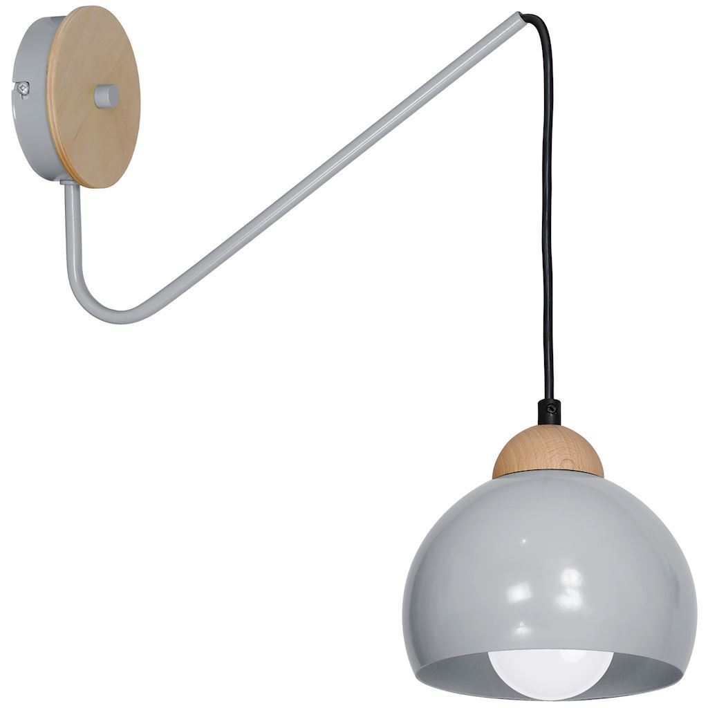 Gray Wall lamp Dama Gray 1x E27