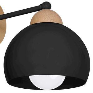 Black Wall lamp Dama Black 1x E27 small 3