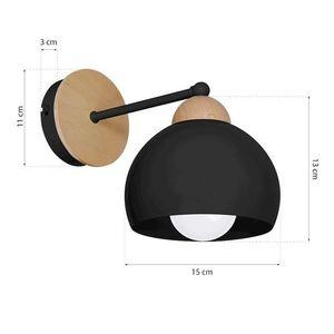 Black Wall lamp Dama Black 1x E27 small 5