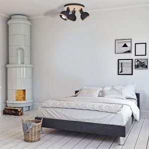 Black Oval Black Ceiling Lamp 3x E27 small 1