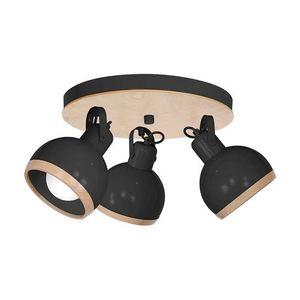 Black Oval Black Ceiling Lamp 3x E27 small 0