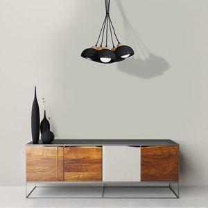 Black Hanging Lamp Dama Black 5x E27 small 1