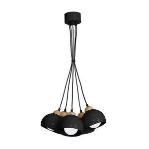 Black Hanging Lamp Dama Black 5x E27 small 0