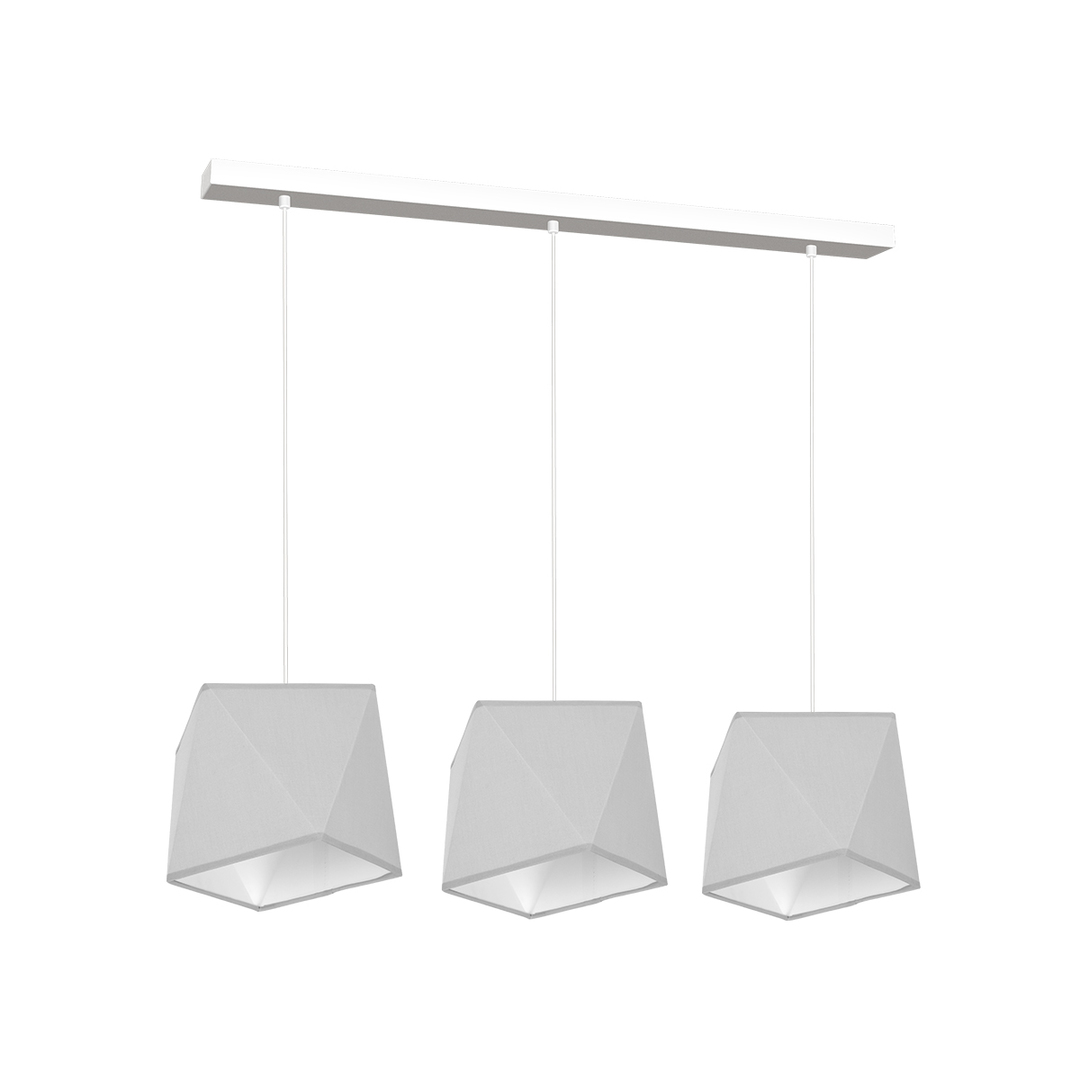 Gray Frank Hanging Lamp 3x E27
