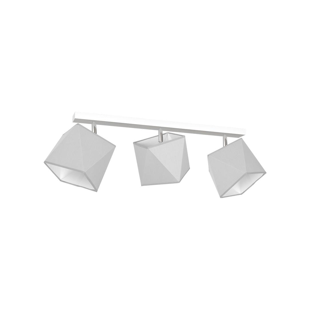 Gray Ceiling Lamp Frank 3x E27