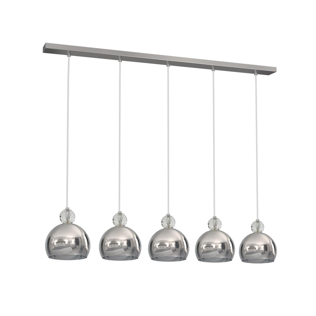Chrome Hanging Lamp Toledo 5x E27