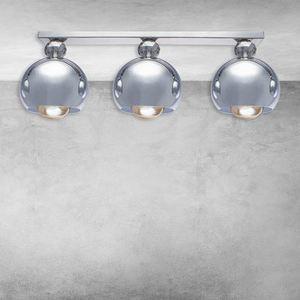 Chrome Ceiling Lamp Toledo 3x E27 small 6