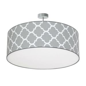 Gray Hanging Lamp Pierre Gray 3x E27 small 0