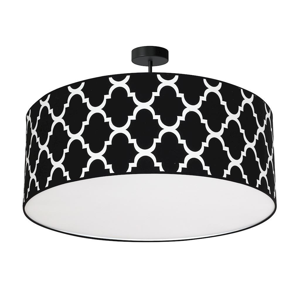 Black Hanging Lamp Pierre Black 3x E27