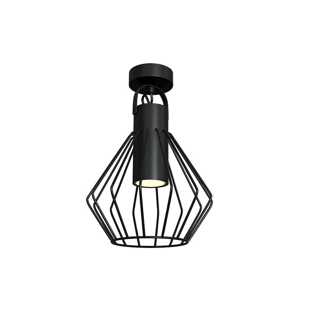 Niko Black 1x Gu10 Ceiling Lamp