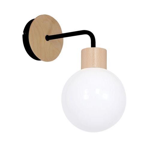 White Wall lamp Bila Black 1x E27