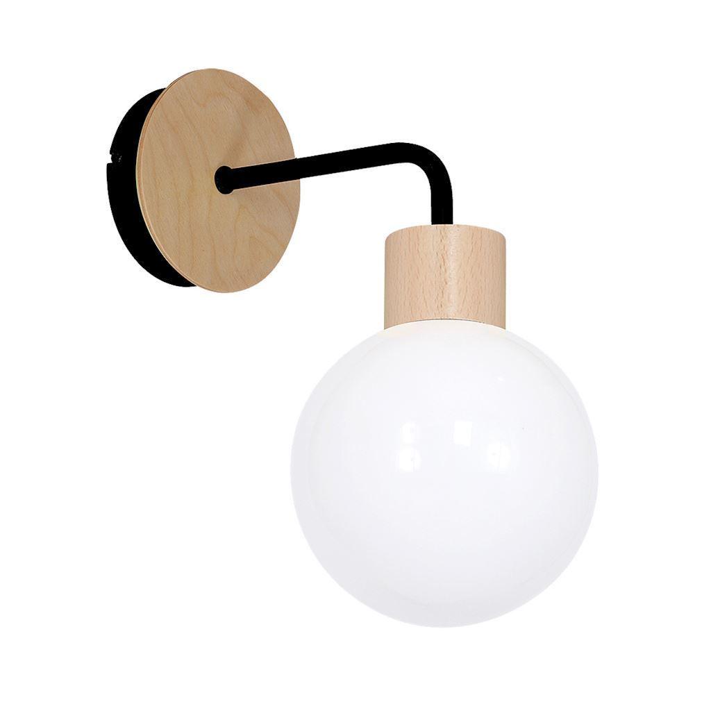 White Wall lamp Bila Black 1x E27