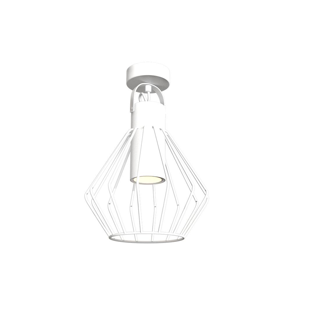 Niko White 1x Gu10 ceiling lamp