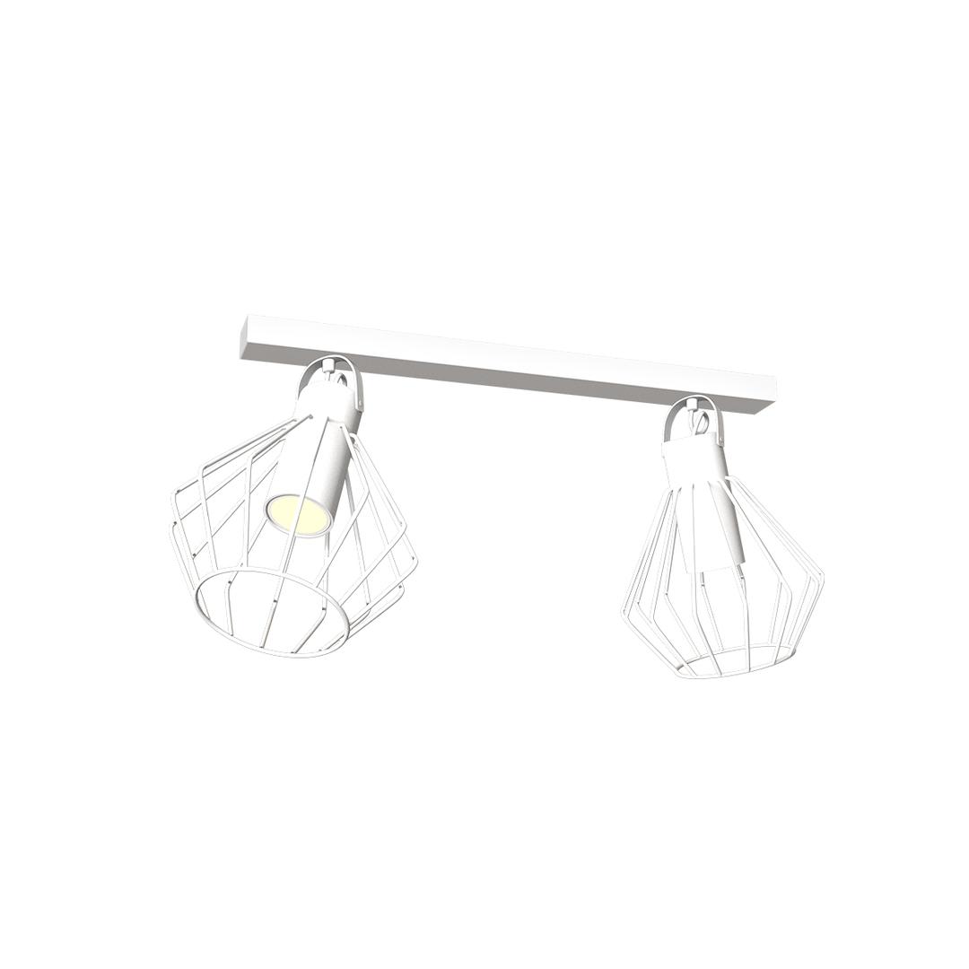 Niko White 2x Gu10 ceiling lamp