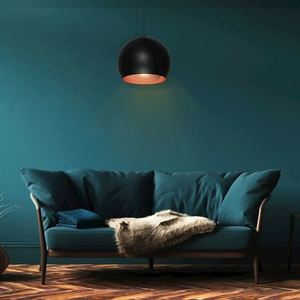 Black Hanging Lamp Lea Black 1x E27 small 1