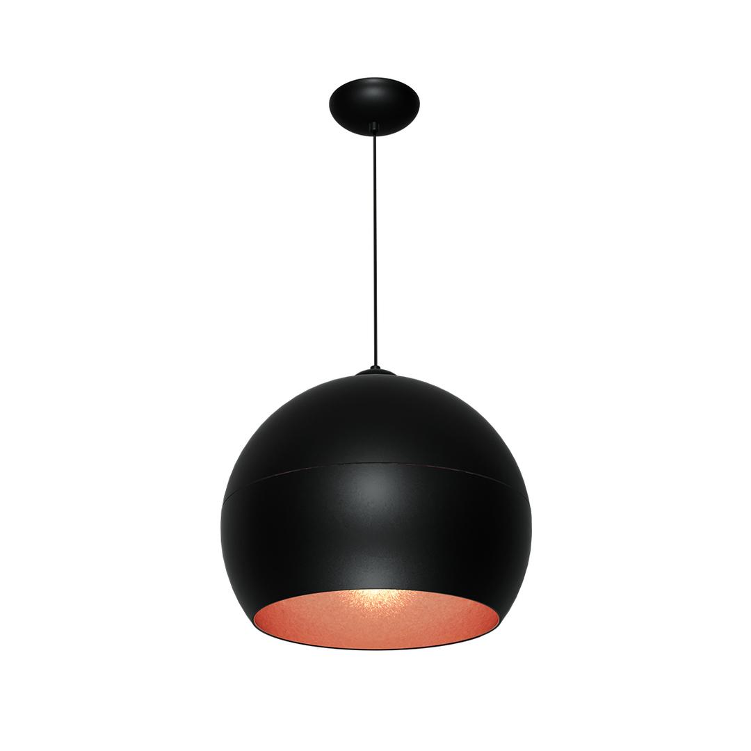 Black Hanging Lamp Lea Black 1x E27