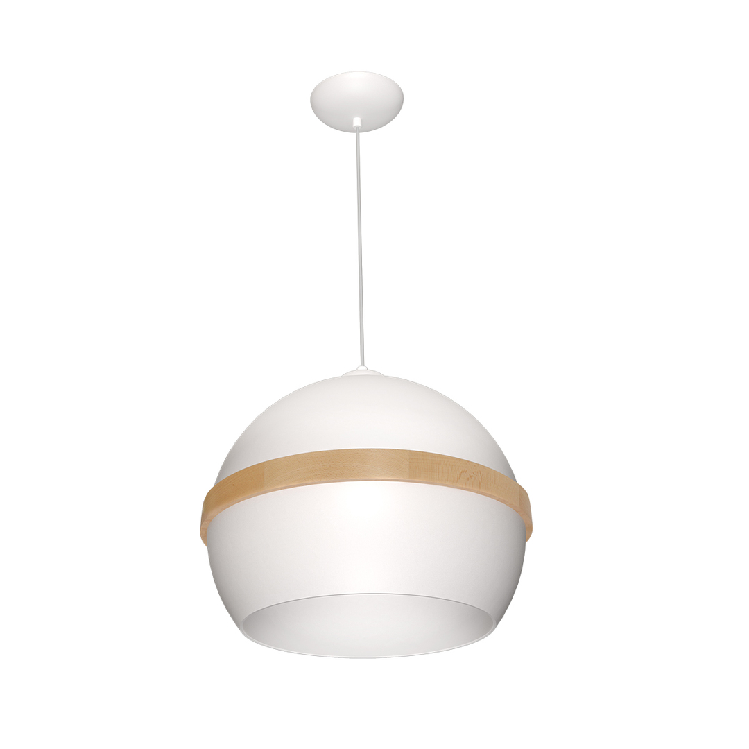 White Carla Hanging Lamp 1x E27