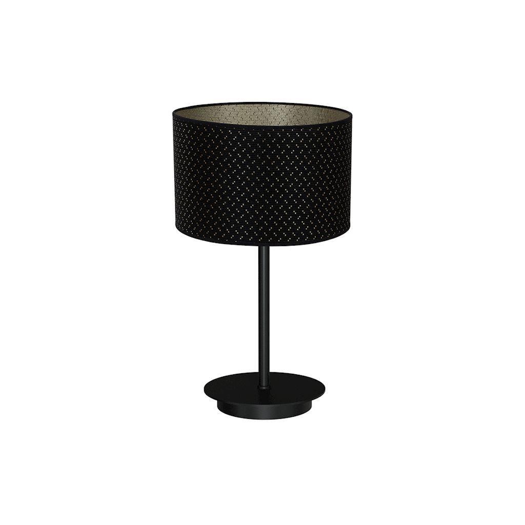 Black Table Lamp Aurora 1x E27