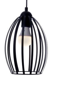 Black Russel Black 1x E27 Hanging Lamp small 2