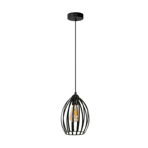 Black Russel Black 1x E27 Hanging Lamp small 0