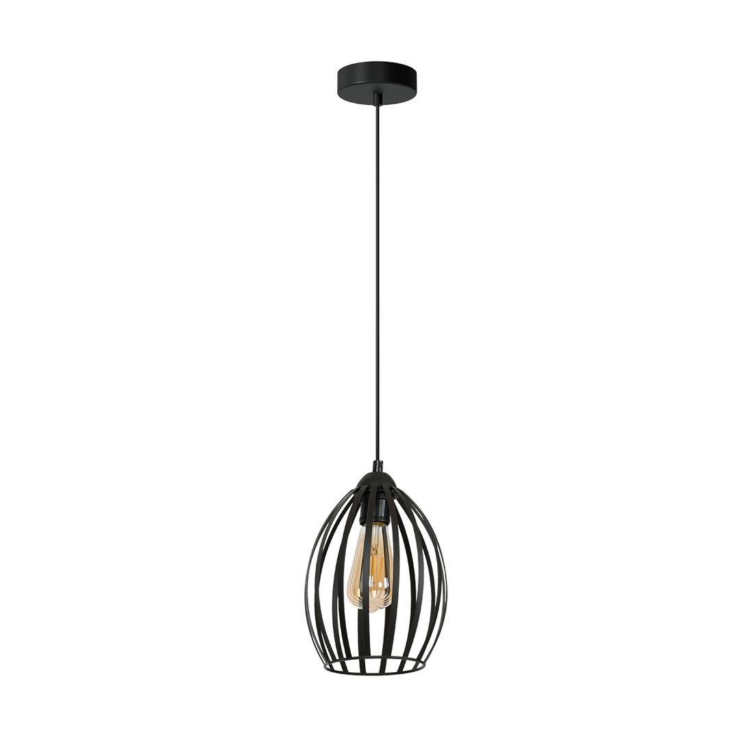 Black Russel Black 1x E27 Hanging Lamp