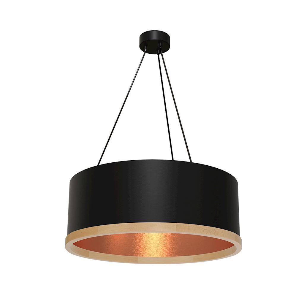 Black Hanging Lamp Olivier 3x E27