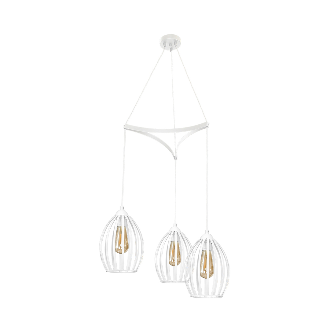 Hanging lamp Russel White 3x E27