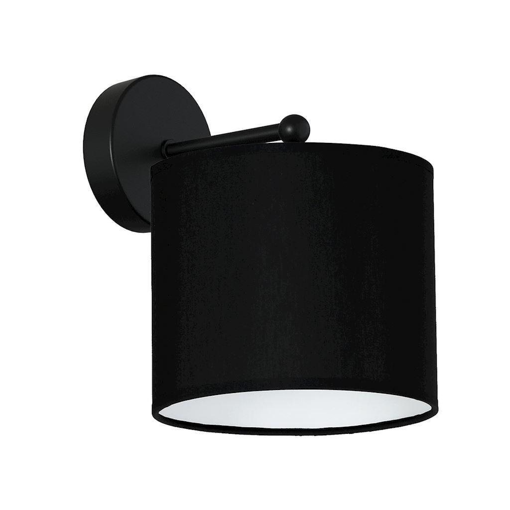 Black Wall Lamp Bari Black 1x E27