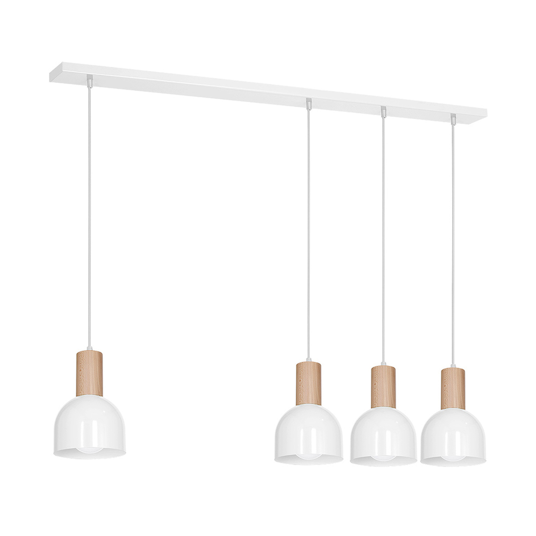 White Hanging Lamp Dex White 4x E27