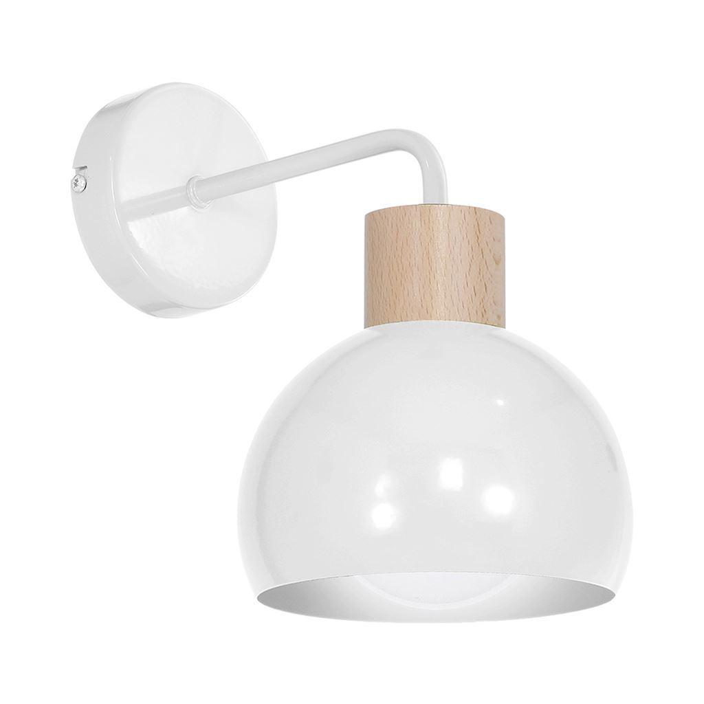 Capri White 1x E27 wall lamp