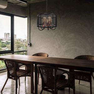 Black Cork Hanging Lamp 5x E27 small 1