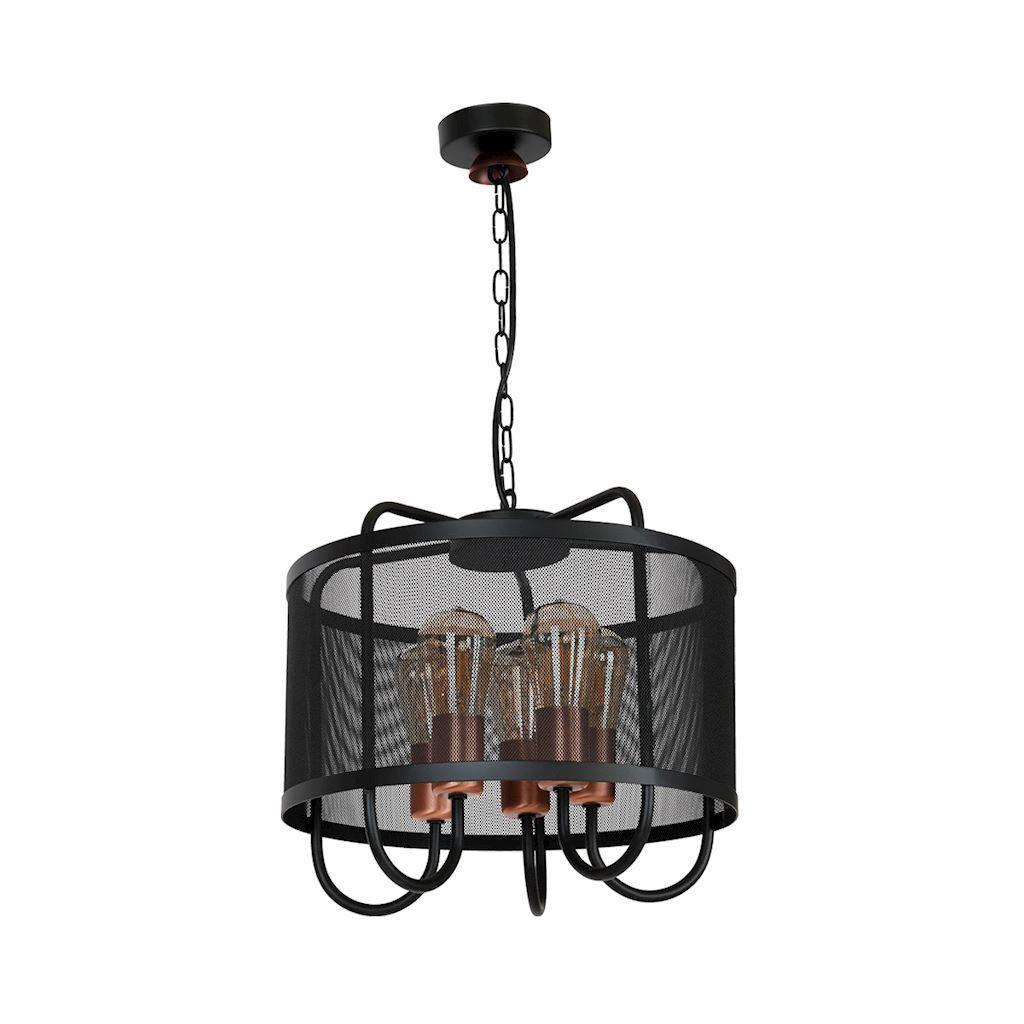 Black Cork Hanging Lamp 5x E27